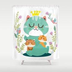 Queen cat Shower Curtain