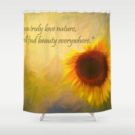 Sunflower Love Shower Curtain