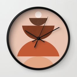 Abstraction_Mountains_Bohemian_MInimalism_009 Wall Clock