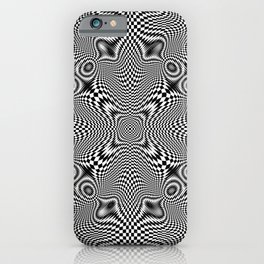 Checkered moire V iPhone Case