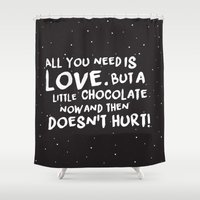 chocolate Shower Curtains featuring Chocolate by Irene Florentina