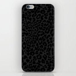 Goth Black Leopard iPhone Skin