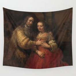 """Isaak and Rebekka, known as """"The Jewish Bride"""" - Rembrandt van Rijn (1665 - 1669) Wall Tapestry"""