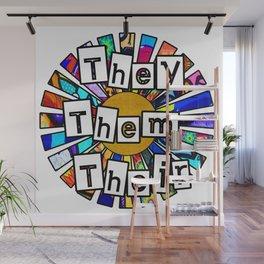 They Them Their Graffiti Sunrays Wall Mural