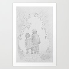 A Walk in Paradise  Art Print