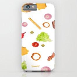 Hamburger Pattern iPhone Case