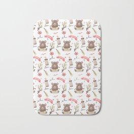 Cute Baby Pattern Bear Design. Bath Mat