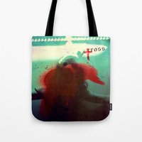 cross Tote Bags featuring Cross by oppositevision