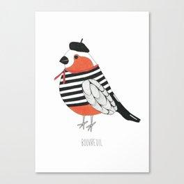 Bouvreuil. Canvas Print