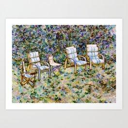 Secret Garden Chair Art Print