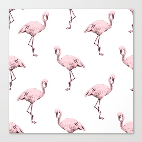 Simply Pink Flamingo in Pink Flamingo Canvas Print