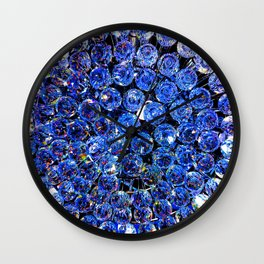 Blue Crystal Chandelier Wall Clock