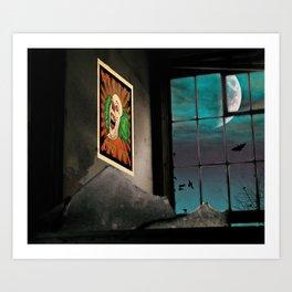 A very Haunted House Art Print