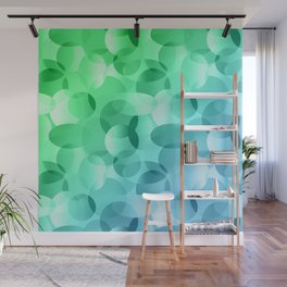 Green and Blue Layered Gradient Ovals! Wall Mural