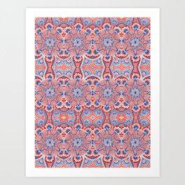 Seamless mandala Art Print
