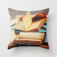 books Throw Pillows featuring Books by Nina's clicks