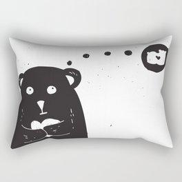 Dreamy bear Rectangular Pillow