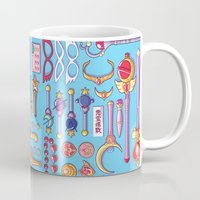 arsenal Mugs featuring Magical Arsenal Blue by Paulina Ganucheau
