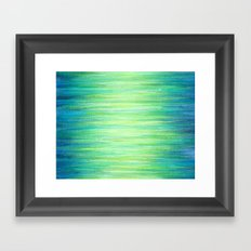 Blue Green Ombre Art Painting Print Framed Art Print