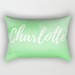 Green Watercolor - Charlotte Rectangular Pillow