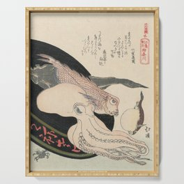Kanagawa, Totoya Hokkei, c. 1890 Serving Tray