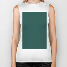 Pantone Forest Biome 19-5230 Green Solid Color Biker Tank
