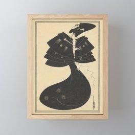 AUBREY BEARDSLEY Salome Oscar Wilde The Black Cape Framed Mini Art Print