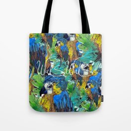 BLUE PARROT Tote Bag