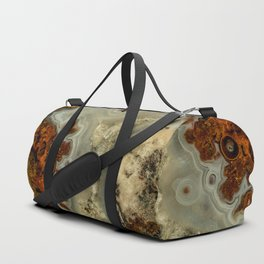 Colorfull pattern of a mineral stone Duffle Bag