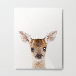 Baby Deer, Baby Animals Art Print By Synplus Metal Print