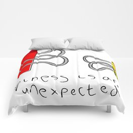 Happiness is an unexpected hug Comforters