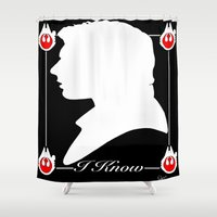 han solo Shower Curtains featuring I Know , han solo by Dan Solo Galleries