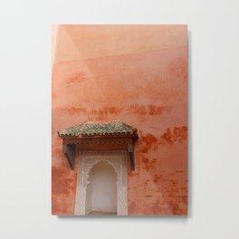 Coral Orange Moroccan Doorways - Marrakech, Morocco Metal Print