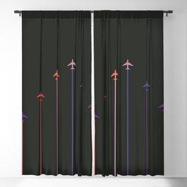 Retro Airplanes 10 Blackout Curtain