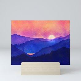 Cobalt Mountains Mini Art Print