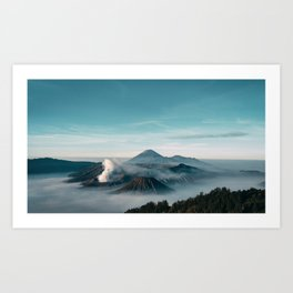 Misty Bromo Art Print
