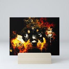 rottweiler puppy dog ws std Mini Art Print