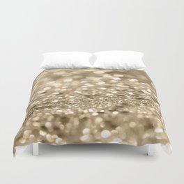 Champagne Gold Lady Glitter #2 #shiny #decor #art #society6 Duvet Cover