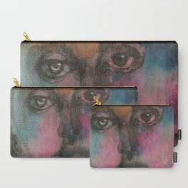 Watercolor Man Carry-All Pouch
