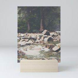 Lake Tahoe mountain river photograph Mini Art Print