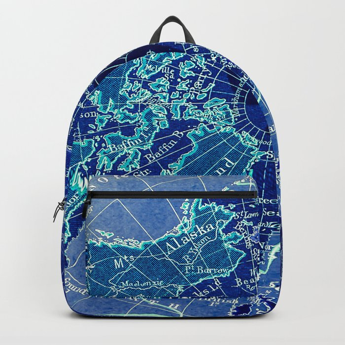 North Pole Neon Map Backpack