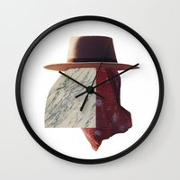 hat Wall Clocks featuring hat by Mirawek Wolff