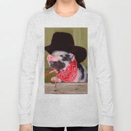 Puppy Cowboy Baby Piglet Farm Animals Babies Long Sleeve T-shirt