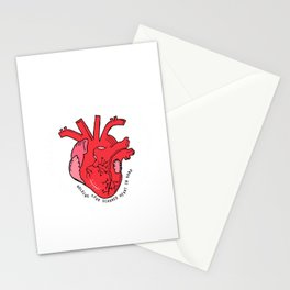 Scarred Heart Stationery Cards