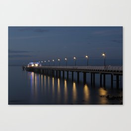 Pier at Night Photographic Print Canvas Print
