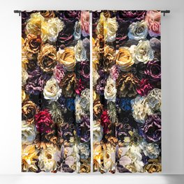 Flower Wall // Full Color Floral Accent Background Jaw Dropping Decoration Blackout Curtain