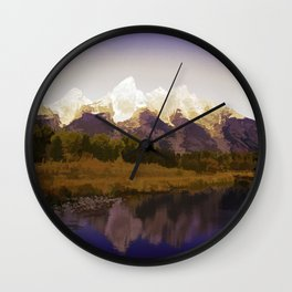 Landscape Abstraction Wall Clock