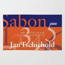 Sabon Typography Poster Rug