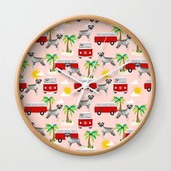 Schnauzer Mini Bus Hippie Bus Palm Tree Tropical Summer