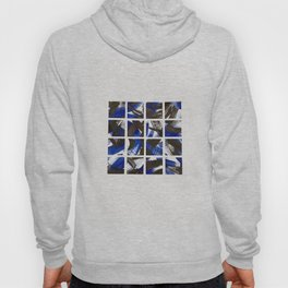 Black and Cobalt Blue Minimalist Mosaic Tiles Hoody